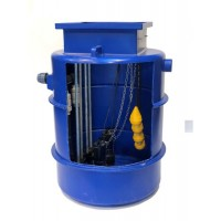 1000Ltr Dual Sewage Pump Station 6m head, Ideal for houses with upto 5 Bedrooms