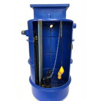 1700Ltr Dual Sewage Pump Station 10m head, Ideal for houses with upto 2 x 4 bed dwelling Bedrooms