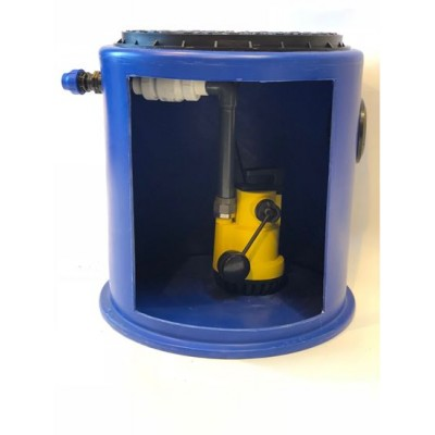 190Ltr Storm and Grey Water Single Pump Station, Ideal for Cellars, Light well and Basements