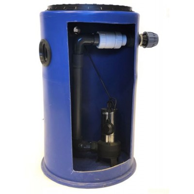 300Ltr Single Sewage Pump Station 10m head,Ideal for extensions, Kitchens, sinlgle w/c's and Annex's